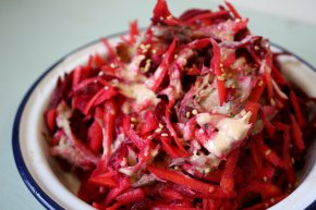 mackerel beetroot carrot salad