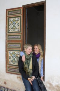 Huddling for warmth in Morocco