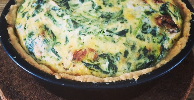 Spinach, nutmeg & buttermilk quiche